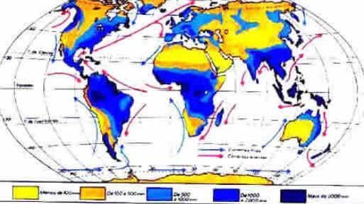 Distribuição geográfica das chuvas