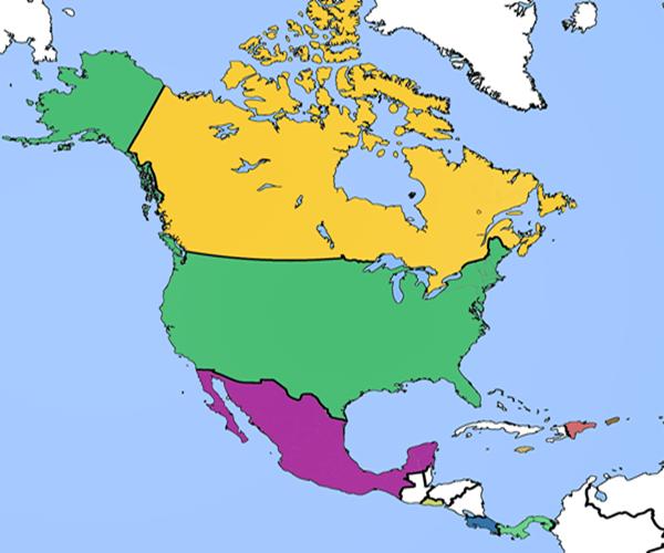 América do Norte – Economia, Clima e População
